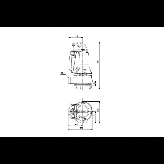 Grundfos EF30.50.11.E.EX.2.1.502 (арт. 96878446) – дренажный погружной канализационный насос