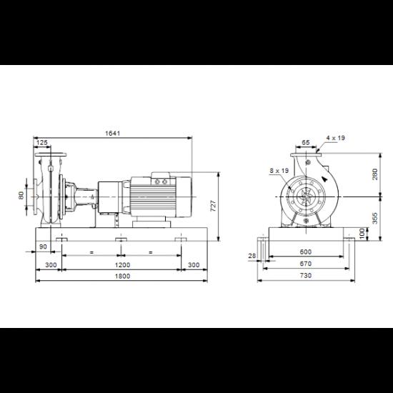 Grundfos NK 65-315/272 A2-F-A-E-BAQE (арт. 97830142) – консольный насос с односторонним всасыванием