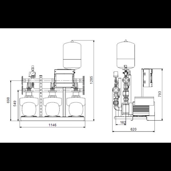 Grundfos HYDRO MULTI-E 3 CME15-3 (арт. 99133635) – насосная станция для водоснабжения и повышения давления
