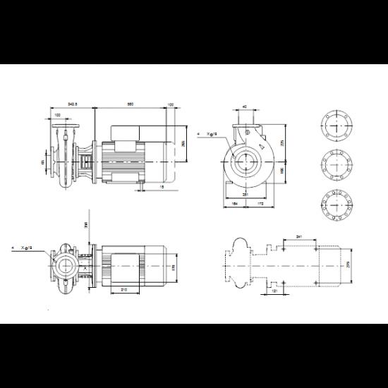Grundfos NB 40-250/255 AF2ABQQE (арт. 99535950) – консольно-моноблочный одноступенчатый насос
