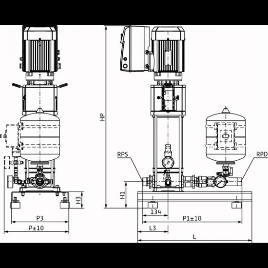Wilo Smart 1 HELIX VE 208 - насосная станция для водоснабжения и повышения давления воды (арт. 2450171)