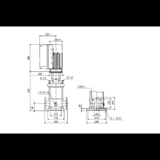 Grundfos CRE 15-8 N-F-A-E-HQQE (арт. 99071877) – вертикальный многоступенчатый центробежный насос