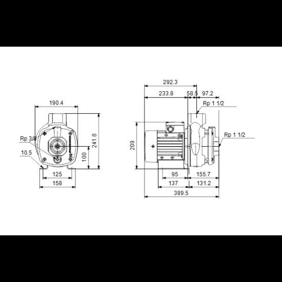 Grundfos CM10-2 A-R-A-E-AVBE (арт. 96806945) – горизонтальный многоступенчатый насос
