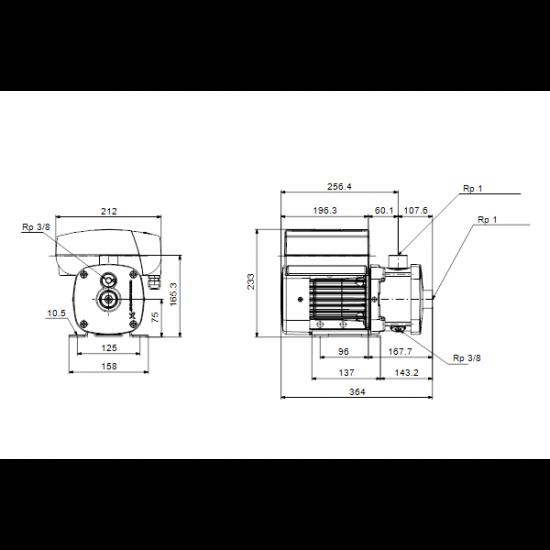 Grundfos CME1-5 A-R-I-V-AQQV (арт. 98394938) – горизонтальный многоступенчатый насос