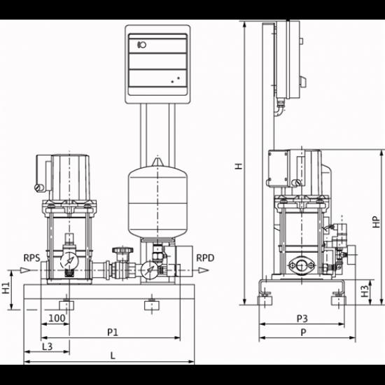 Wilo CO-1 MVIS 406/ER-PN10-R - насосная станция для водоснабжения и повышения давления воды (арт. 2789043)