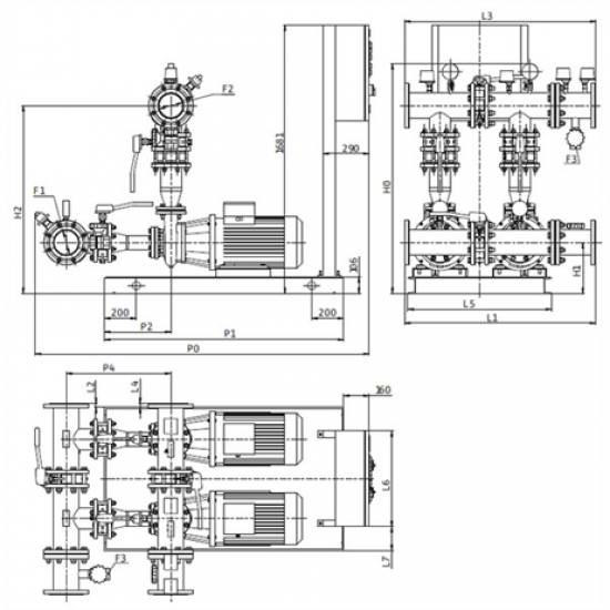 Wilo CO-2 BL 100/315-18,5/4/SK-FFS-S-R (арт. 2898488) – насосная станция для пожаротушения