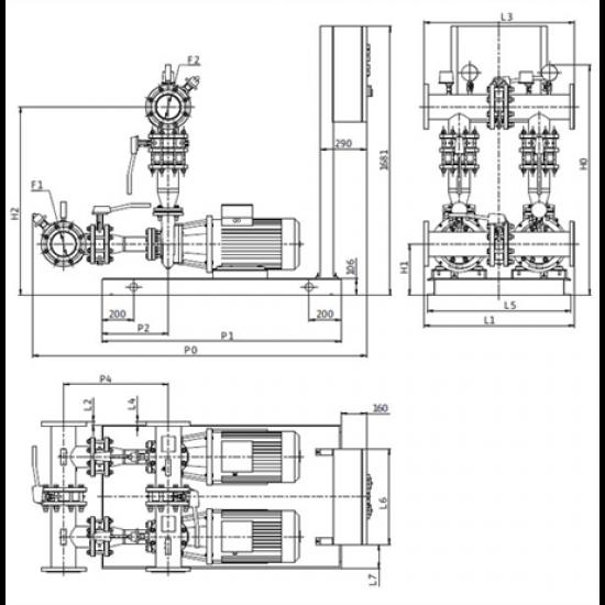 Wilo CO-2 BL 65/130-5,5/2/SK-FFS-D-R – насосная станция для пожаротушения