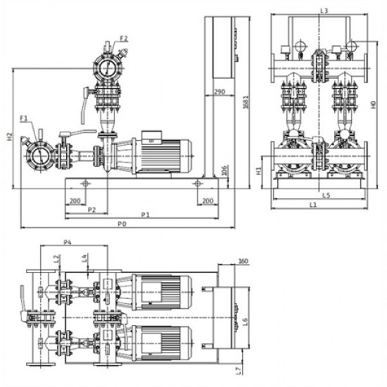 Wilo CO-2 BL 80/160-15/2/SK-FFS-D-R (арт. 2898294) – насосная станция для пожаротушения