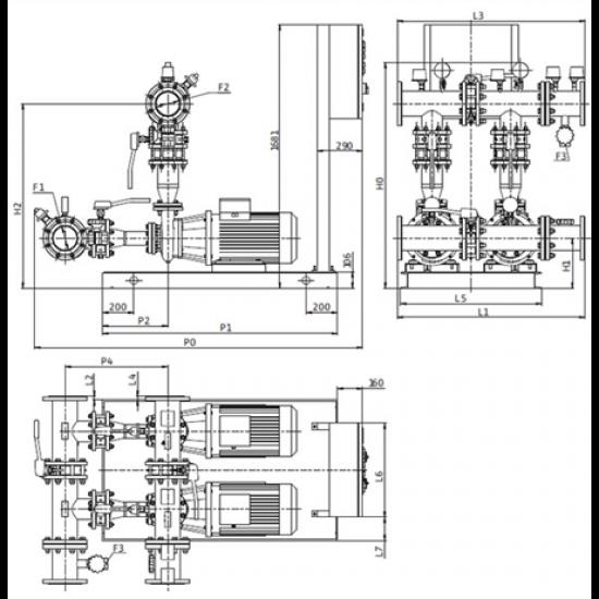 Wilo CO-2 BL 80/170-30/2/SK-FFS-S-R – насосная станция для пожаротушения