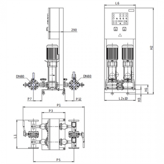 Wilo CO-2 HELIX V 1003K/SK-FFS-D-R (арт. 2453123) – насосная станция для пожаротушения