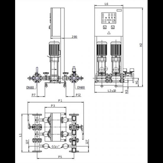 Wilo CO-2 HELIX V 1009K/SK-FFS-S-R (арт. 2453166) – насосная станция для пожаротушения