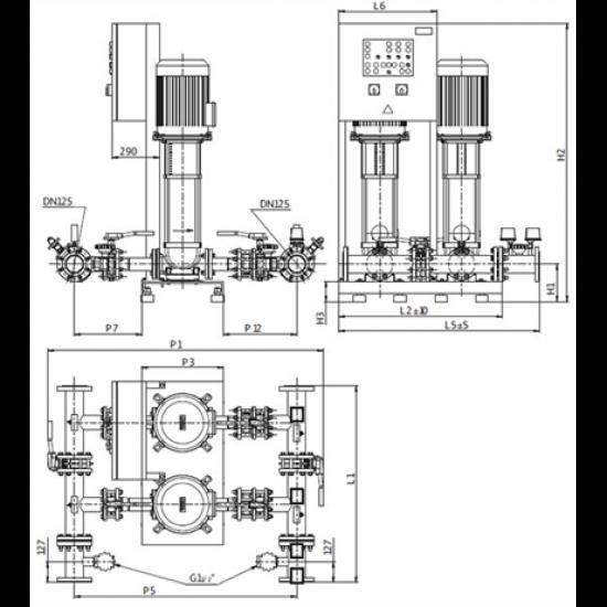 Wilo CO-2 HELIX V 5201/1/SK-FFS-S-EB-R (арт. 2453088) – насосная станция для пожаротушения