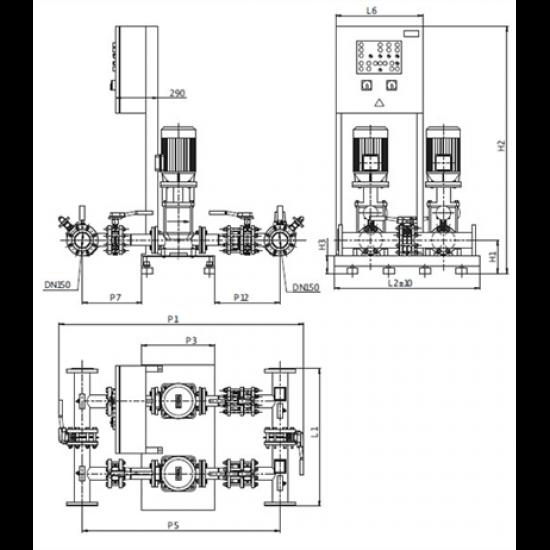 Wilo CO-2 MVI 7004/1/SK-FFS-D-EB-R (арт. 2453034) – насосная станция для пожаротушения