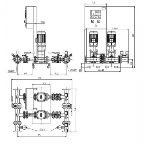 Wilo CO-2 MVI 7006/2 PN25/SK-FFS-S-R (арт. 2453204) – насосная станция для пожаротушения