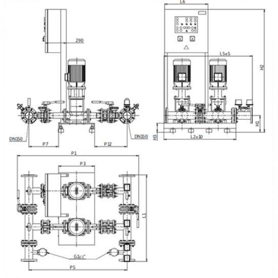Wilo CO-2 MVI 9504/1/SK-FFS-S-R (арт. 2898362) – насосная станция для пожаротушения