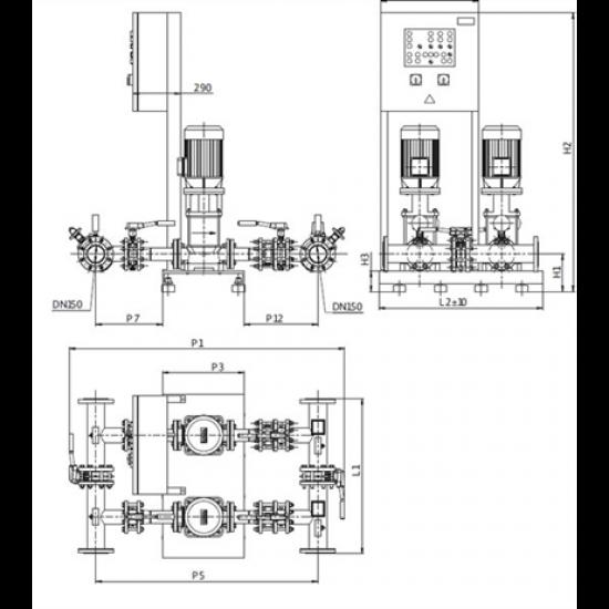 Wilo CO-2 MVI 9504/SK-FFS-D-R (арт. 2898209) – насосная станция для пожаротушения