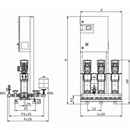 Wilo CO-3 HELIX V 1009/CC-EB-R - насосная станция для водоснабжения и повышения давления воды (арт. 2785560)