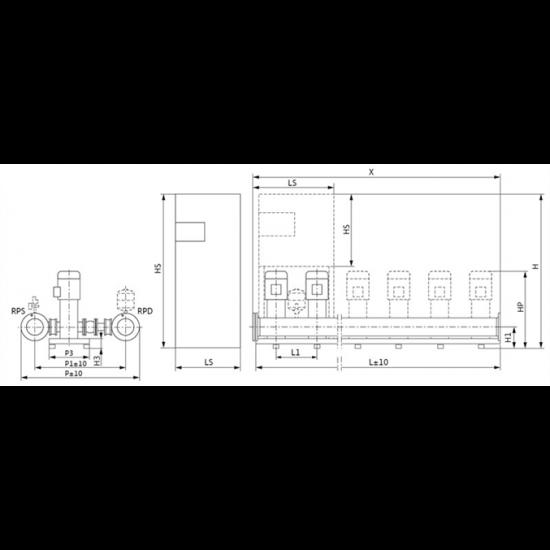 Wilo COR-2 MVI 7002/SKw-EB-R (арт. 2799868) – насосная станция для водоснабжения и повышения давления воды
