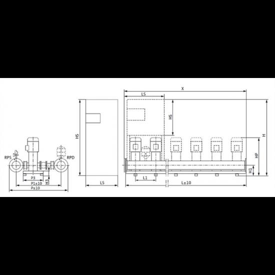 Wilo COR-4 HELIX V 1005/Skw-EB-R (арт. 2799650) – насосная станция для водоснабжения и повышения давления воды