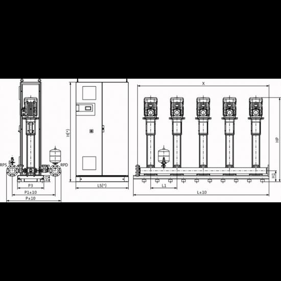 Wilo COR-5 HELIX V 1608/SKw-EB-R (арт. 2787186) – насосная станция для водоснабжения и повышения давления воды