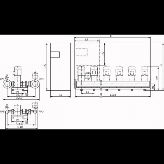 Wilo COR-5 HELIX V 5206/2/K/CC-EB-R (арт. 2532394) – насосная станция для водоснабжения и повышения давления воды