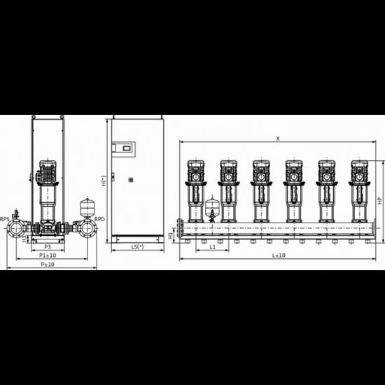 Wilo COR-6 HELIX V 3603/SKw-EB-R (арт. 2787284) – насосная станция для водоснабжения и повышения давления воды