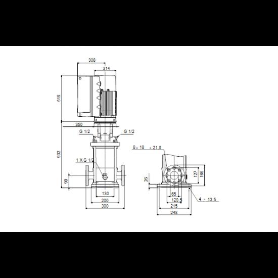Grundfos CRNE 20-10 A-FGJ-A-E-HQQE (арт. 96514672) – вертикальный многоступенчатый центробежный насос