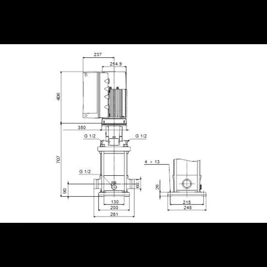 Grundfos CRNE 20-6 A-P-A-E-HQQE (арт. 99071712) – вертикальный многоступенчатый центробежный насос