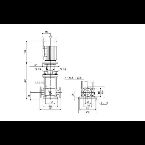 Grundfos CRN 10-4 A-FGJ-A-E-HQQE (арт. 96501059) – вертикальный многоступенчатый центробежный насос