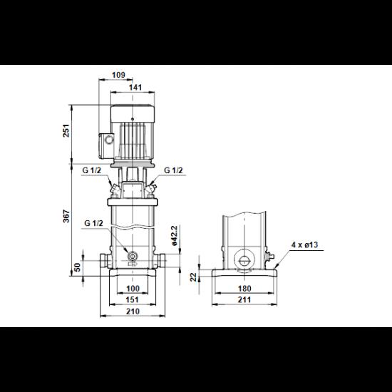 Grundfos CRT 4-6 A-P-A-E-AUUE (арт. 96100799) – вертикальный многоступенчатый центробежный насос