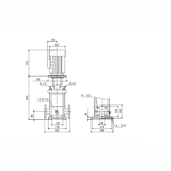 Grundfos CR 15-5 A-F-A-V-HQQV (арт. 96501986) – вертикальный многоступенчатый центробежный насос