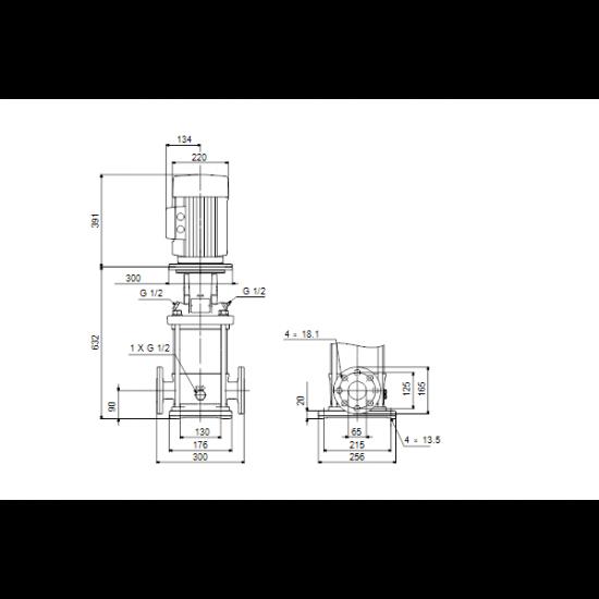 Grundfos CR 15-6 A-F-A-V-HQQV (арт. 96501987) – вертикальный многоступенчатый центробежный насос