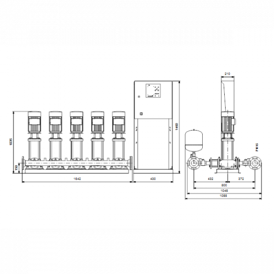 Grundfos HYDRO MPC-E 5 CRE10-9 (арт. 99209233) – насосная станция для водоснабжения и повышения давления