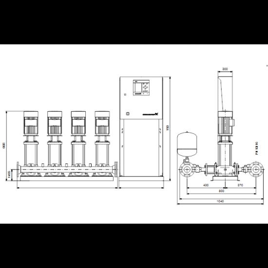Grundfos HYDRO MPC-F 4CR10-3 (арт. 97520828) – насосная станция для водоснабжения и повышения давления
