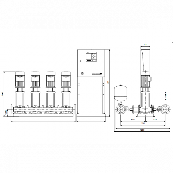 Grundfos HYDRO MPC-F 4CR20-2 (арт. 97520840) – насосная станция для водоснабжения и повышения давления