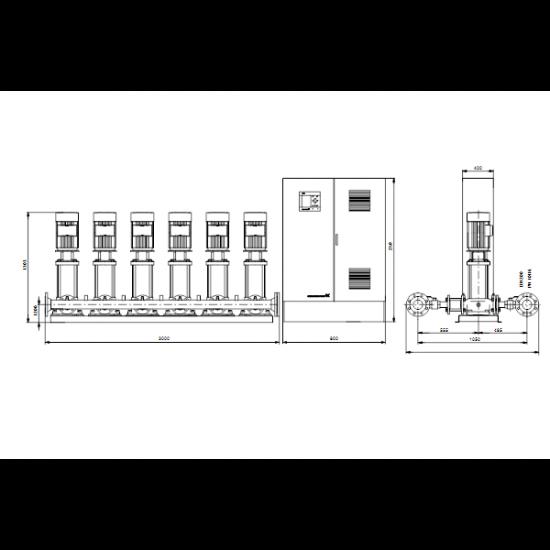 Grundfos HYDRO MPC-S 6 CR 64-2 (арт. 95044907) – насосная станция для водоснабжения и повышения давления