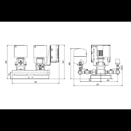 Grundfos HYDRO MULTI-E 2 CRE5-05 (арт. 98486687) – насосная станция для водоснабжения и повышения давления