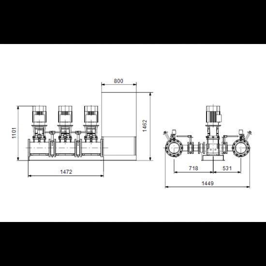Grundfos HYDRO MX 2/1 3CR5-20 (арт. 98783300) – насосная станция пожаротушения