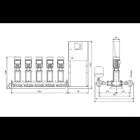 Grundfos Hydro MPC-E 5 CRE32-5-2 50/60Hz RUS (арт. 98439488) – насосная станция для водоснабжения и повышения давления