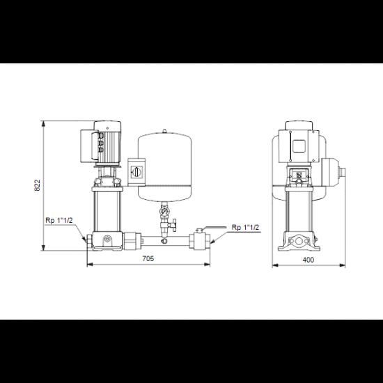 Grundfos Hydro Solo E CRE 10-6 HQQE (арт. 91048905) – насосная станция для водоснабжения и повышения давления