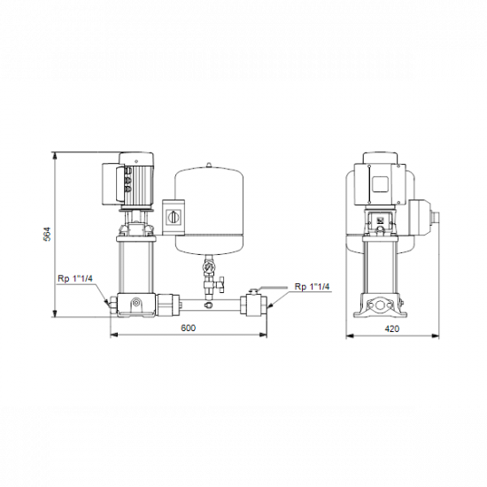 Grundfos Hydro Solo E CRE 3-8 HQQE (арт. 98453510) – насосная станция для водоснабжения и повышения давления