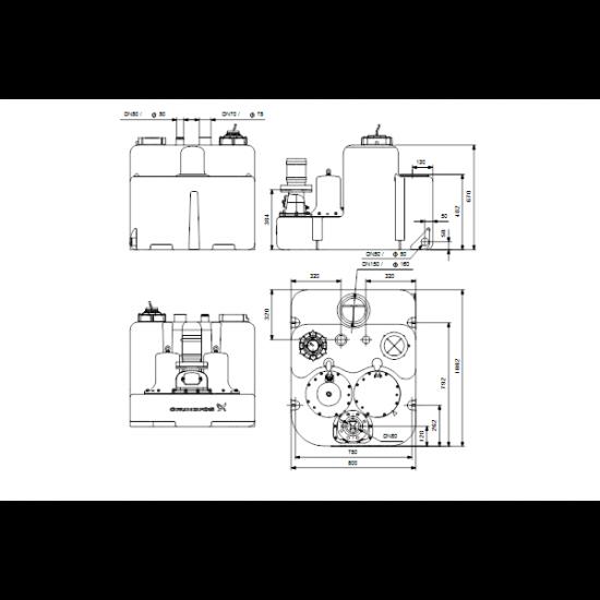 Grundfos Multilift MLD.32.3.2 (арт. 97901122) – канализационная насосная станция