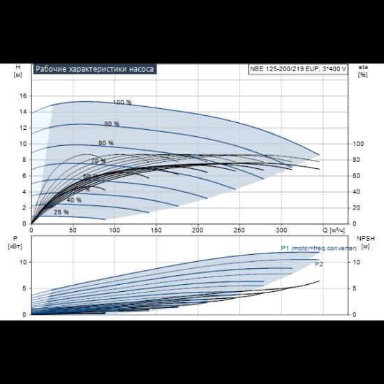 Grundfos NBE 125-200/219 EUP AF2ABQQE (арт. 98975353) – консольно-моноблочный одноступенчатый насос