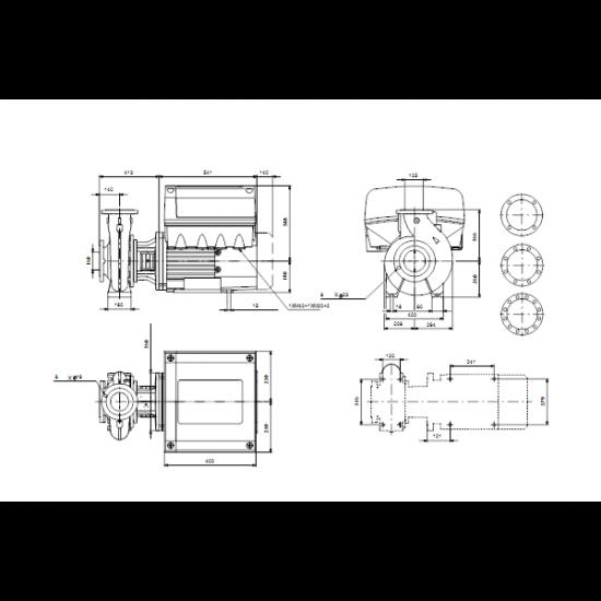 Grundfos NBE 125-250/249 AF2ABQQE (арт. 98532156) – консольно-моноблочный одноступенчатый насос