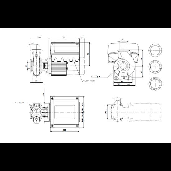 Grundfos NBE 50-200/219 AF2ABQQE (арт. 99105420) – консольно-моноблочный одноступенчатый насос