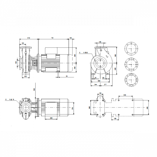 Grundfos NBG 150-125-500/406 AF2BBQQE (арт. 96704617) – консольно-моноблочный одноступенчатый насос