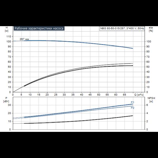 Grundfos NBG 80-50-315/267 AE2BBQQE (арт. 96770907) – консольно-моноблочный одноступенчатый насос