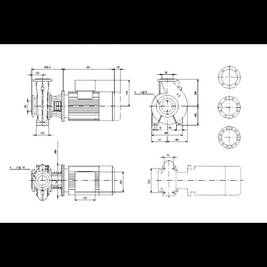 Grundfos NB 50-200/171 AF2ABQQE (арт. 98128725) – консольно-моноблочный одноступенчатый насос