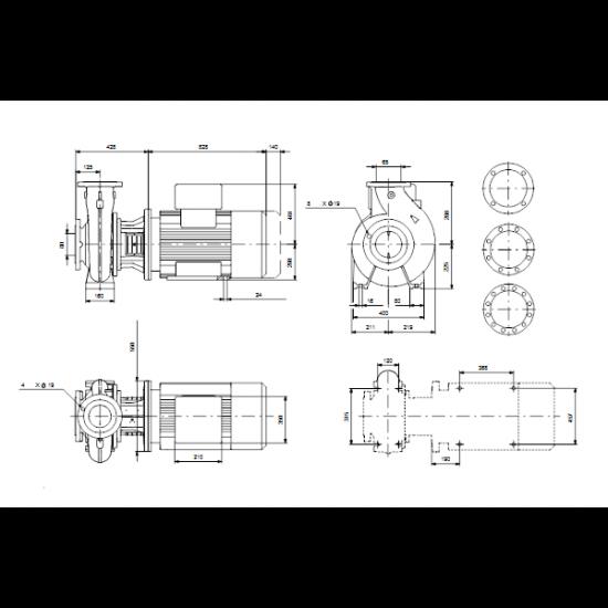 Grundfos NB 65-315/295 AF2ABQQE (арт. 99534335) – консольно-моноблочный одноступенчатый насос