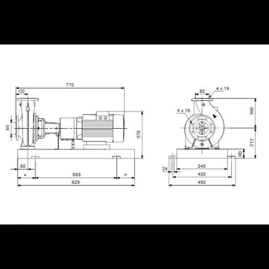 Grundfos NKE 50-125/138 A1-F-L-E-BQQE (арт. 98112105) – консольный насос с односторонним всасыванием